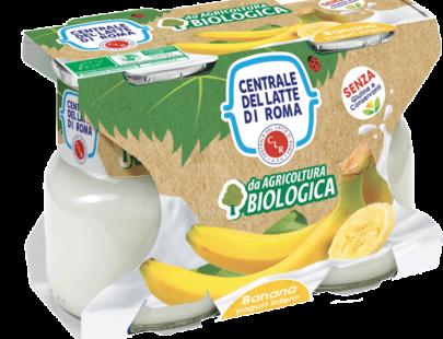 Yogurt intero bio banana Centrale Del Latte Di Roma
