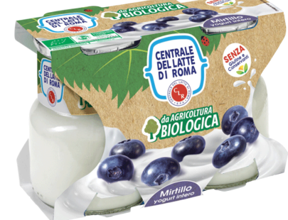 Yogurt intero bio mirtillo Centrale Del Latte Di Roma