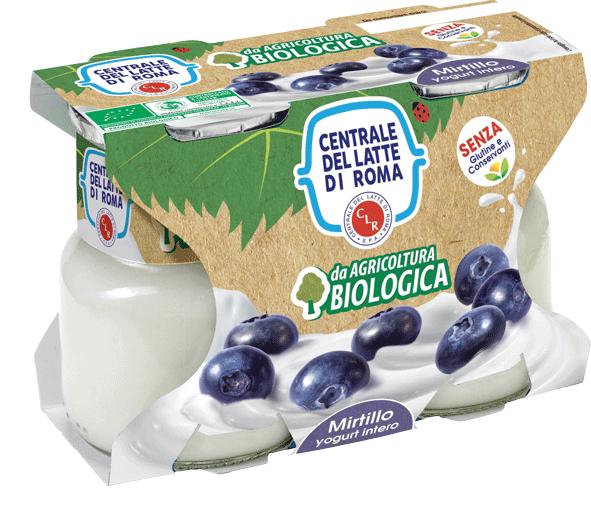 Yogurt intero bio mirtillo Centrale Del Latte Di Roma