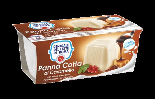 Panna cotta al caramello 2 vasetti Centrale Del Latte Di Roma