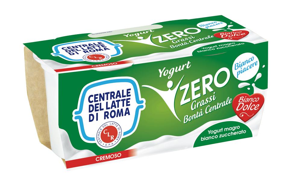 Yogurt cremoso magro bianco dolce Centrale Del Latte Di Roma