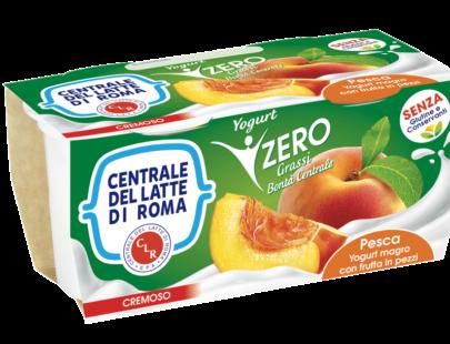 Yogurt cremoso magro alla pesca Centrale Del Latte Di Roma