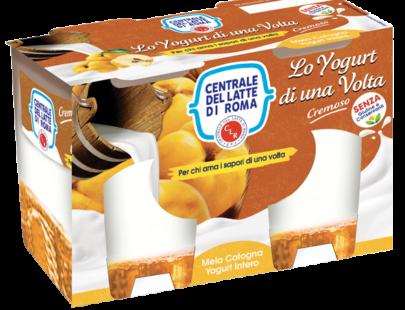 yogurt intero cremoso mela cotogna 2 vasetti Centrale del Latte di Roma