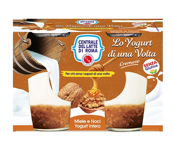 yogurt intero cremoso miele e noci 2 vasetti Centrale del Latte di Roma