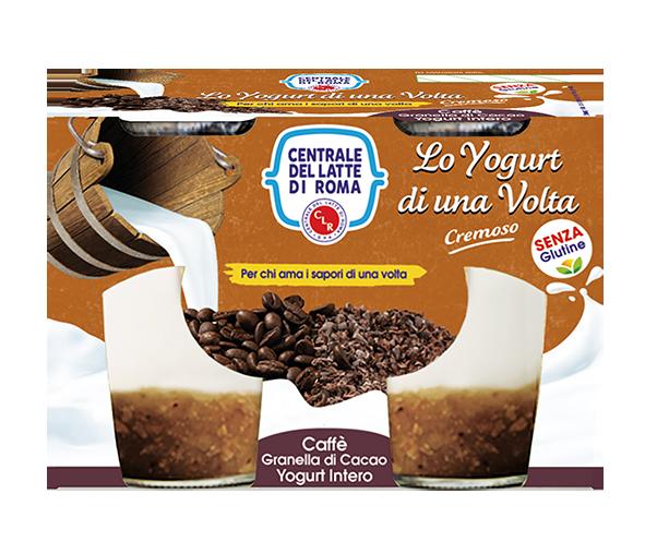 yogurt intero cremoso caffè granella di cacao 2 vasetti Centrale del Latte di Roma