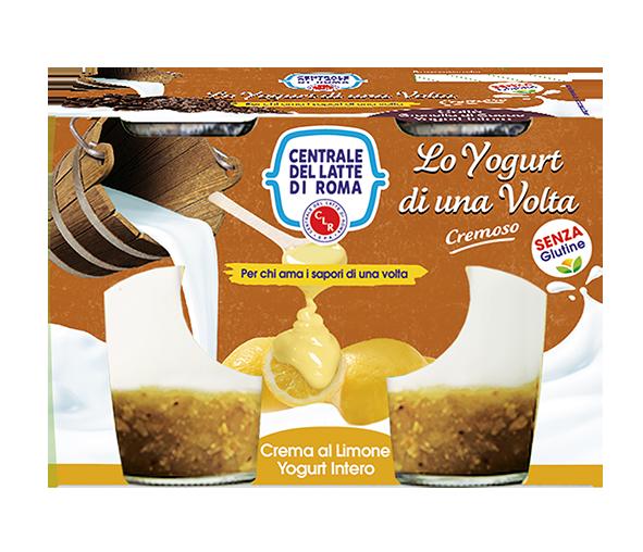 yogurt intero cremoso crema di limone 2 vasetti Centrale del Latte di Roma